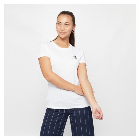 Bílé tričko Chevron Small Chest L Tee Converse