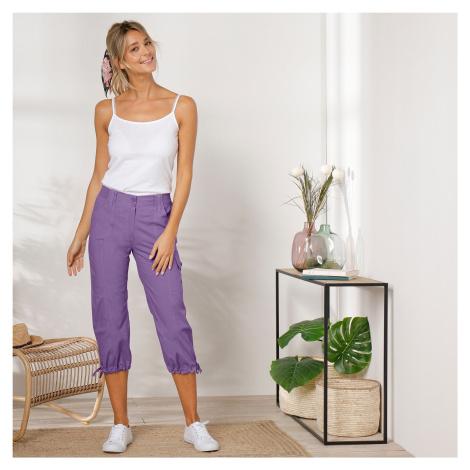 Blancheporte 3/4 kalhoty s úpletovým pásem šeříková
