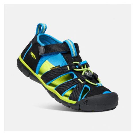 Dětské sandály Keen Seacamp II CNX Youth black/brilliant blue