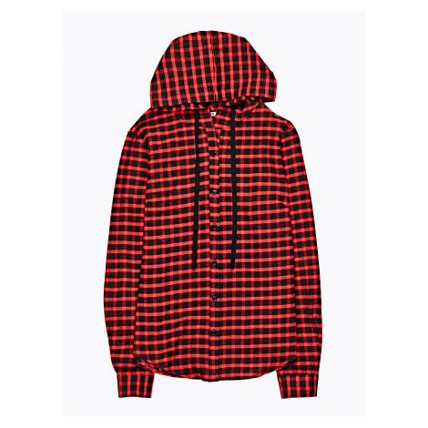 GATE Kostkovaná košile s kapucí