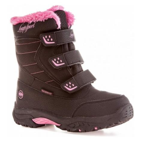 Loap KITTAY růžová - Dětská zimní obuv