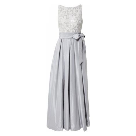 Lauren Ralph Lauren Společenské šaty 'AGNI' stříbrná / šedá