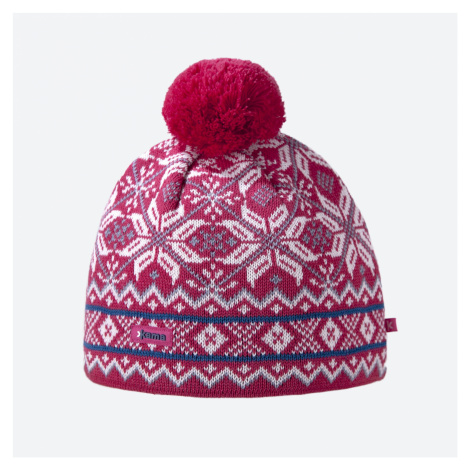 Kama AW 06-114 pletená merino čepice růžová