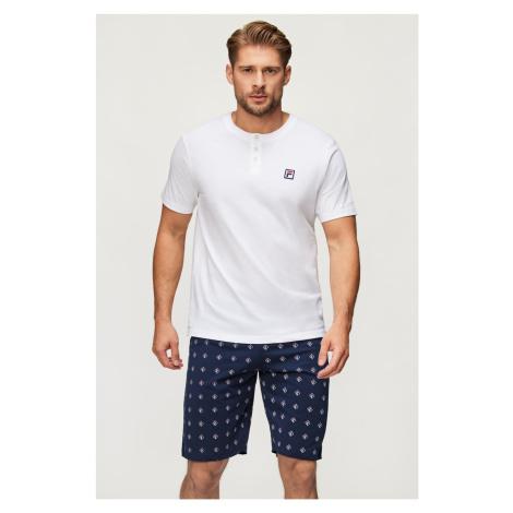 Bílé pyžamo FILA Short Jersey bílá