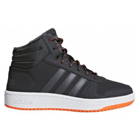 adidas HOOPS MID 2.0 K šedá - Dětská volnočasová obuv