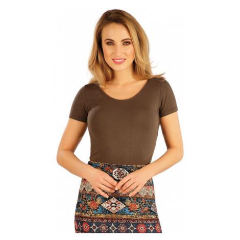 Dámské tričko s krátkým rukávem Litex 5A376 | čokoládová