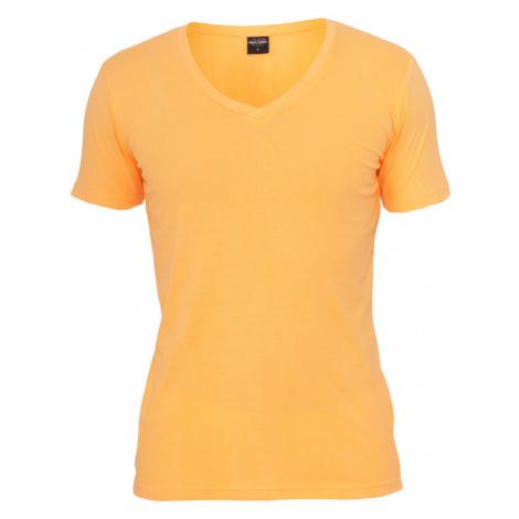 Neon V-Neck Tee - orange Urban Classics