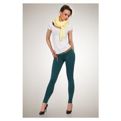 Legíny Lumide Exclusive Wear barva tmavě zelená