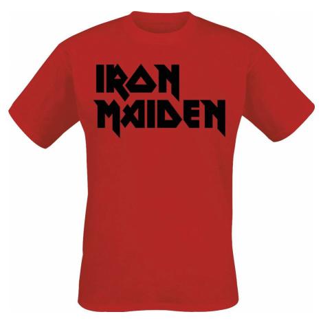 Iron Maiden Classic Logo tricko červená