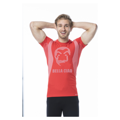 Pánské funkční tričko s krátkým rukávem IRON-IC - Bella Ciao - červená