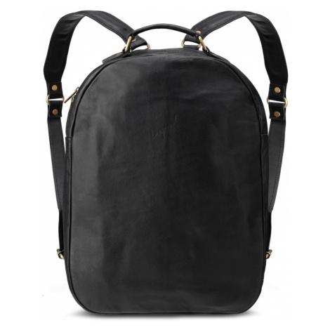 Bagind Velkey Sirius - Dámský i pánský kožený batoh černý, ruční výroba, český design