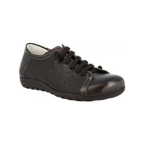 Leonardo Shoes 594 VITELLO NERO Černá
