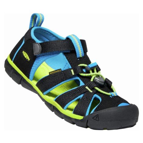 KEEN SEACAMP II CNX JR. Dětské sandály 10012364KEN01 black/brilliant blue