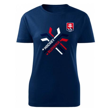 Dámské tričko Hockey Slovakia překřížené hokejky, CCM