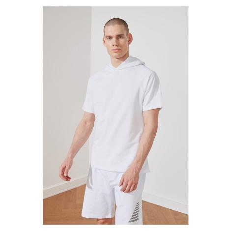 Trendyol White Male Regular Fit Sweatshirt
