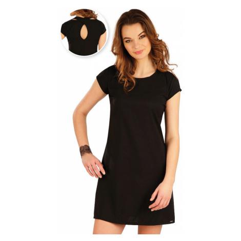 LITEX Šaty dámské s krátkým rukávem 5A321901 černá