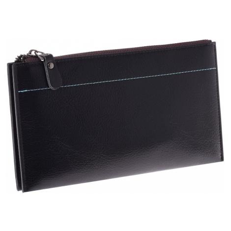 Dlouhá černá peněženka se spojkou na zip ONE SIZE