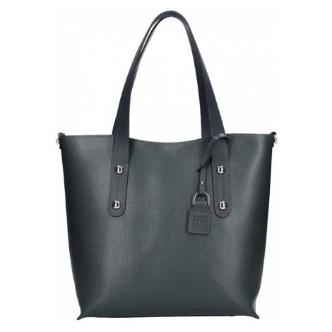Dámská kožená kabelka Facebag Nina - tmavě šedá