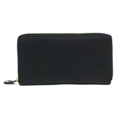 Černá zipová dlouhá kožená dámská peněženka Gayla Mercucio