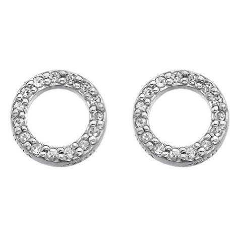 Hot Diamonds Stříbrné náušnice Hot Diamonds Love DE534