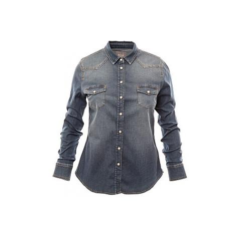 Dámská džínová košile Mustang Iconic Denim Blouse modrá