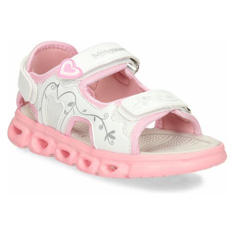 Růžovobílé dětské sandály Bubblegummers