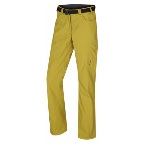 Husky Kahula L, žlutozelená Dámské outdoor kalhoty