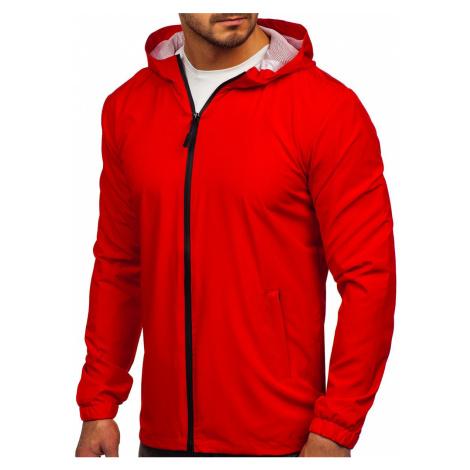Červená pánská sportovní bunda větrovka Bolf HH035 J.STYLE