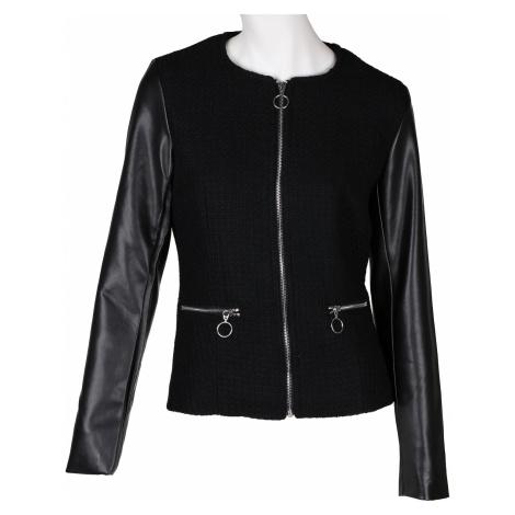 Černá dámská bunda s kombinovaným materiálem Baťa