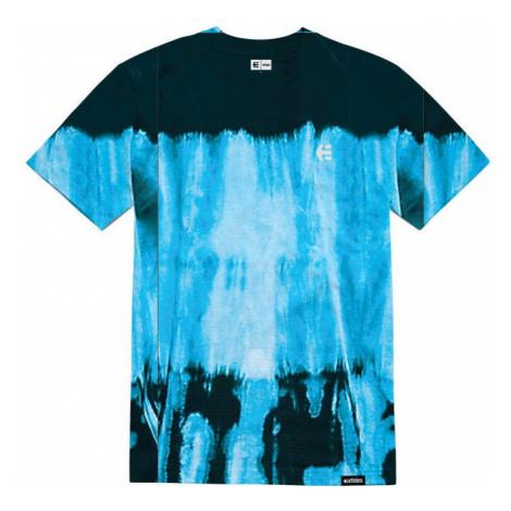 TRIKO ETNIES Team Embroidery Wash - modrá