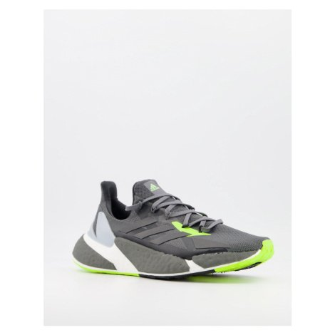 Adidas Running X9000 L4 trainers in neon grey-Green