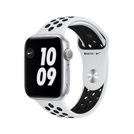 Apple Watch Nike Series 6 44mm Stříbrný hliník s platinovým/černým sportovním řemínkem Nike