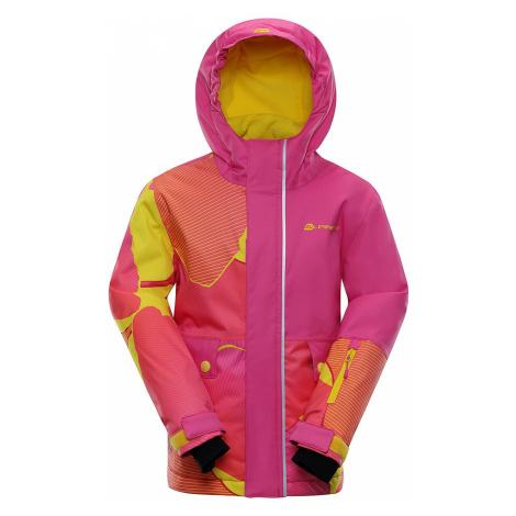 Dětská zimní bunda Alpine Pro INTKO - růžová