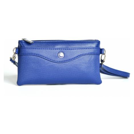 Bright Kabelka/pouzdro/etue 3v1 lesklá s kapsou a přepážkou modrá, 22 x 2 x 12 (BR17-A8057-01SYN