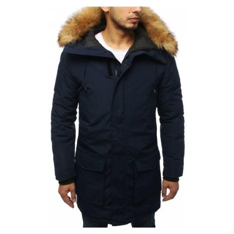 Dstreet Granátová zimní bunda s kapucí
