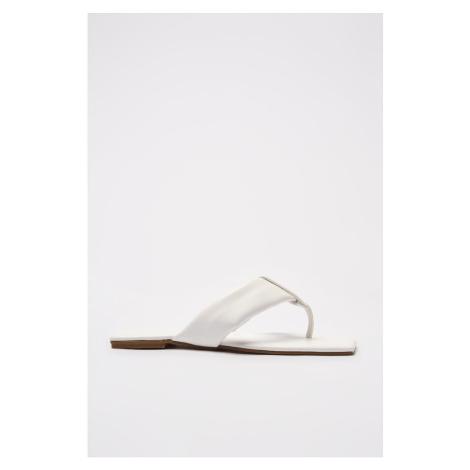 Trendyol White Flip-Flops Women's Slippers