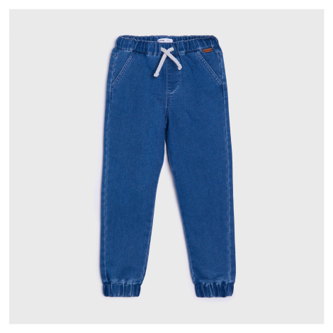 Sinsay - Kalhoty s vysokým podílem bavlny - Modrá