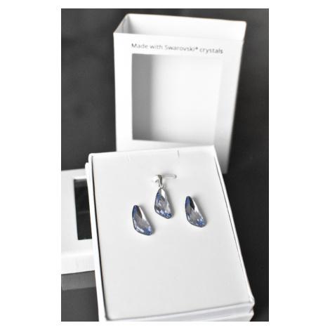 Sada šperků s krystaly Swarovski náušnice a přívěsek fialové 79039.3 Victum