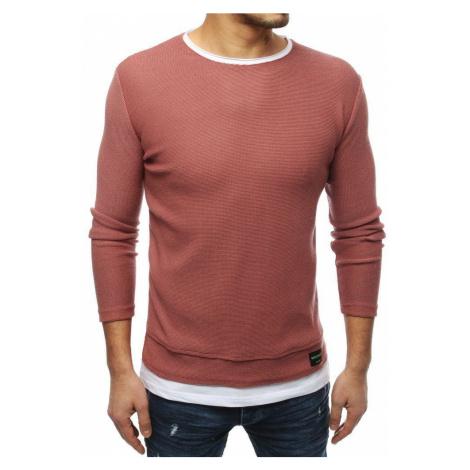 Dstreet Atraktivní růžový svetr
