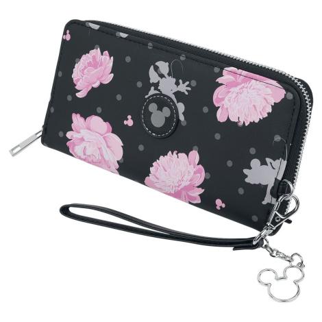 Mickey & Minnie Mouse Micky und Minni Peněženka cerná/ružová