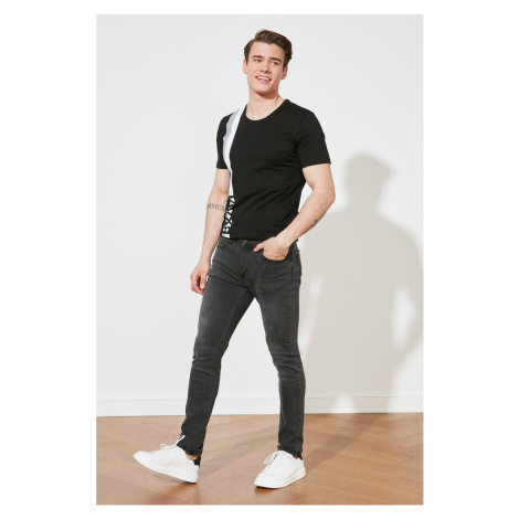 Trendyol Anthracite Men's Ripped Detailed Normal Rise Skinny Fit Jeans
