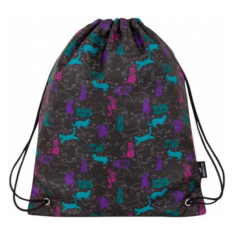 Dívčí školní sáček na přezůvky BAGMASTER SHOES EPSON 8 A BLACK/PINK/BLUE