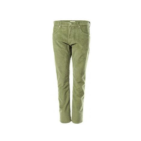 Manšestrové kalhoty Wrangler Greensboro Dusty Olive