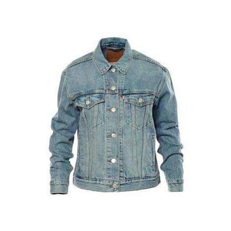 Džínová bunda Exboyfriend Trucker Soft dámská světle modrá Levi´s
