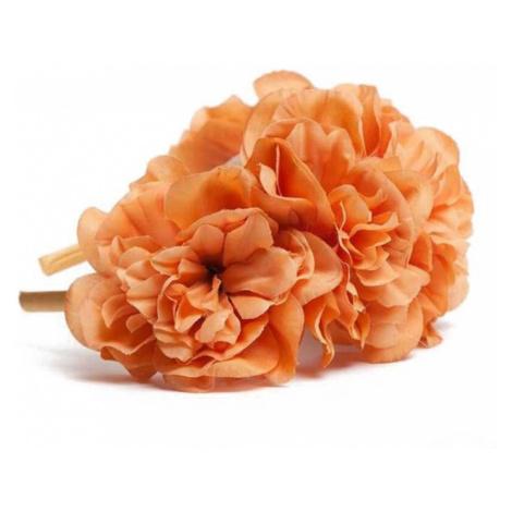 Oranžová čelenka s květinami Florisse