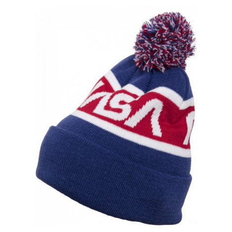 Mr. Tee NASA Beanie Knitted blue/red/wht