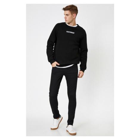 Koton Men's Black Trousers Bsc
