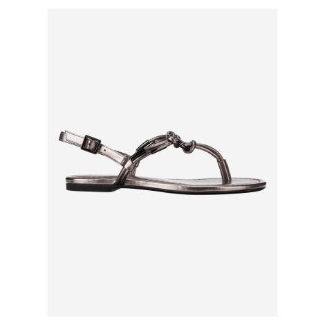 Sandále Armani Exchange Stříbrná