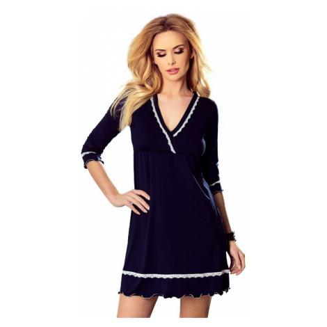 Luxusní noční košilka Lea tmavě modrá Eldar