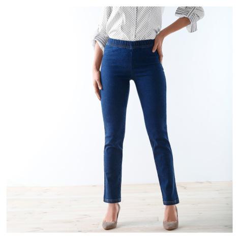 Blancheporte Tvarující džíny pro ploché bříško modrá